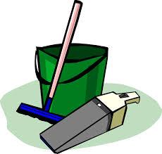Jelen vannak a takarító eszközök is