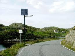 Modern napelemes közvilágítás